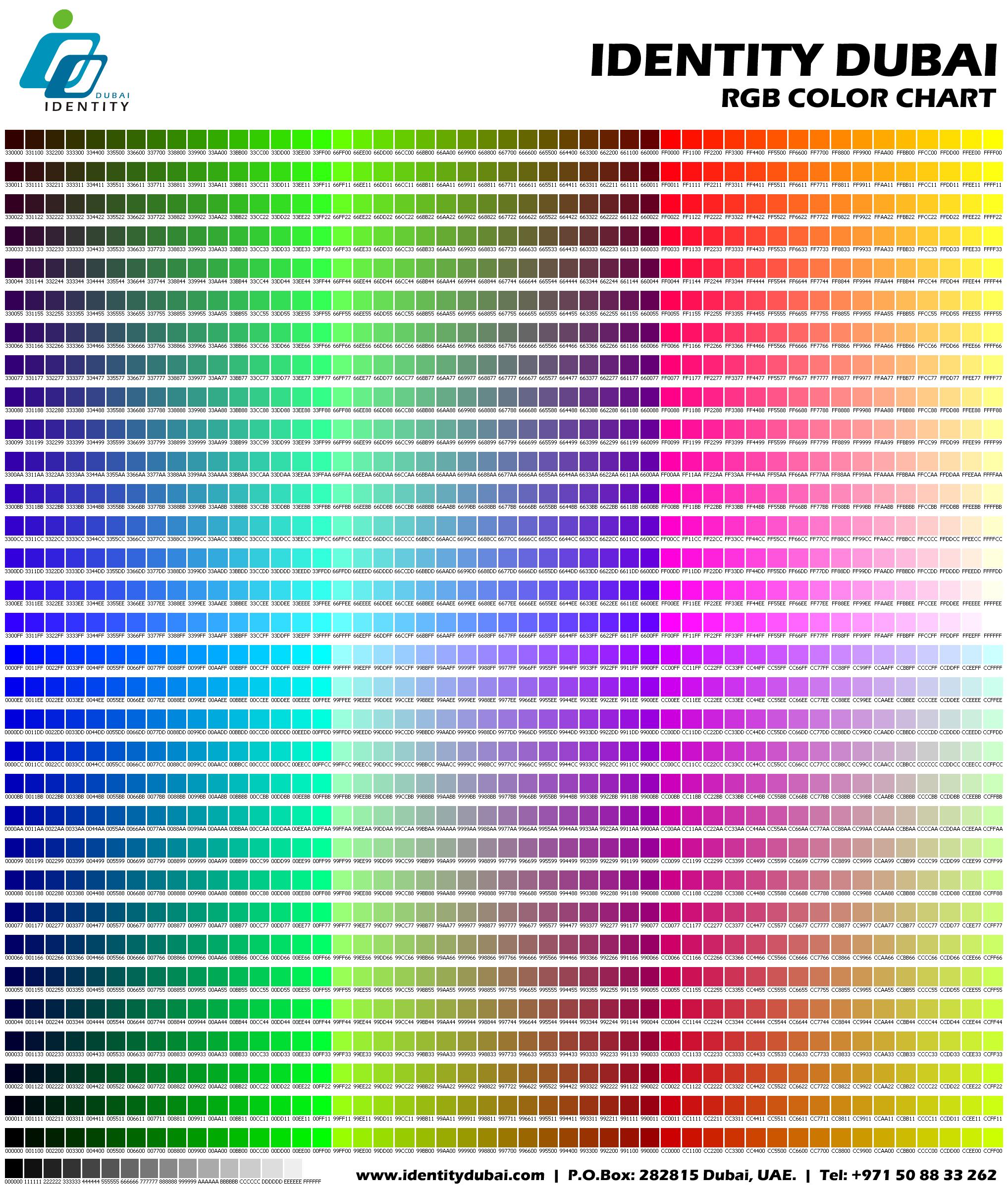 Rgb Chart Ottodeemperor